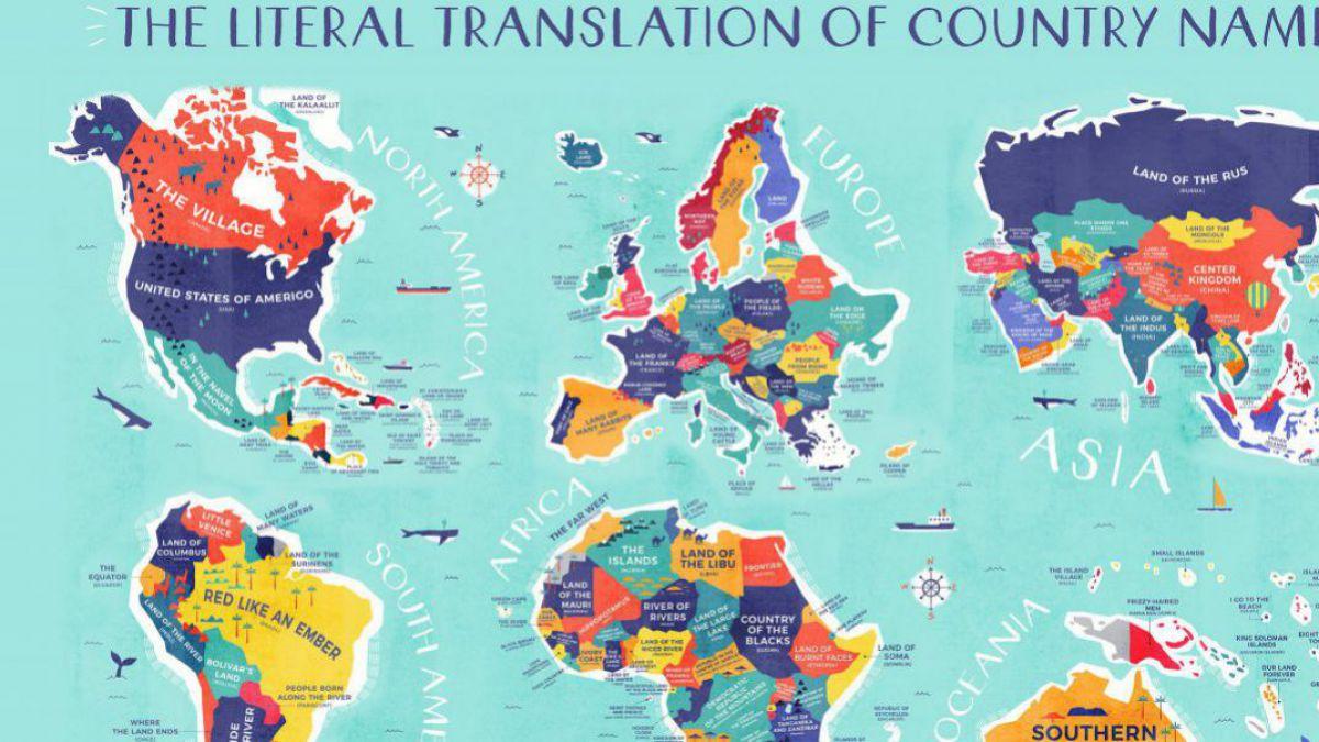 Agora Foto Harta Lumii Cu Numele țărilor Traduse Mot A Mot