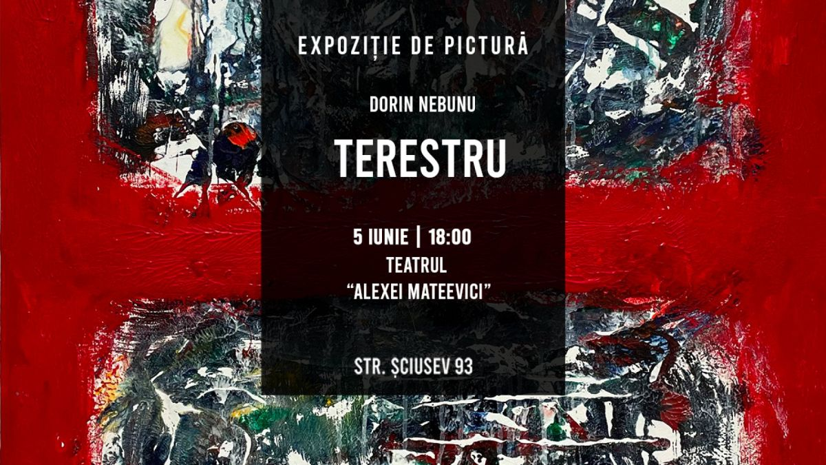 """""""Terestru"""" sau unde poți vedea un vernisaj de pictură unic în Chișinău (FOTO)"""