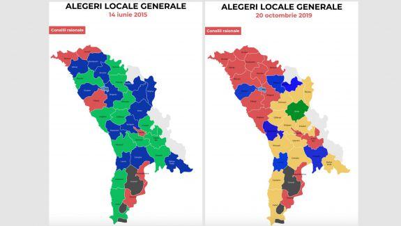 2015 vs 2019! Cum s-au schimbat la față raioanele din RM, după alegerile locale (INFOGRAFIC)