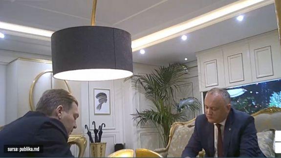 """A fost publicat un nou video cu Dodon, de data aceasta cu Iaralov: Kozak mi-a dictat, după ce i-am spus că nu putem scrie """"federalizare"""" (VIDEO)"""