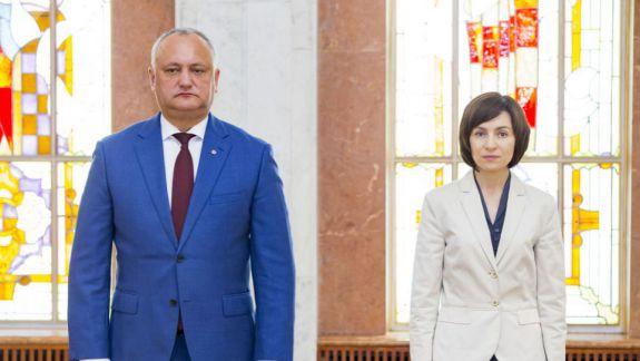 """Același """"duel"""" și în 2020? Moldovenii îi numesc pe Dodon și Sandu drept primii doi candidați pe care i-ar vota la prezidențiale"""