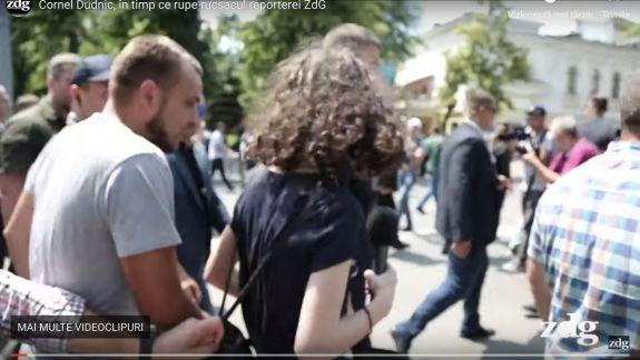 Comportament de democrat. Reportera ZdG, bruscată de un ex-deputat PDM (VIDEO)
