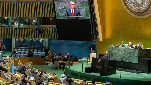 """Deputați ACUM, după discursul lui Dodon la ONU: """"Poziția este a președintelui, nicidecum a majorității parlamentare sau a Guvernului"""""""