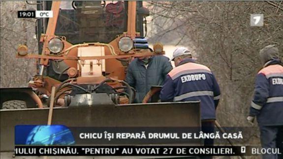 Drumul din preajma casei lui Chicu din Durlești, reparat după învestirea în funcție a premierului