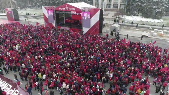 Estimare iData: Câți oameni au reușit să adune socialiștii la protestul de duminică