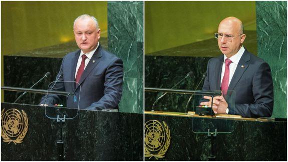 """Filip critică prestația lui Dodon la ONU: """"Am asistat la un act rușinos"""""""