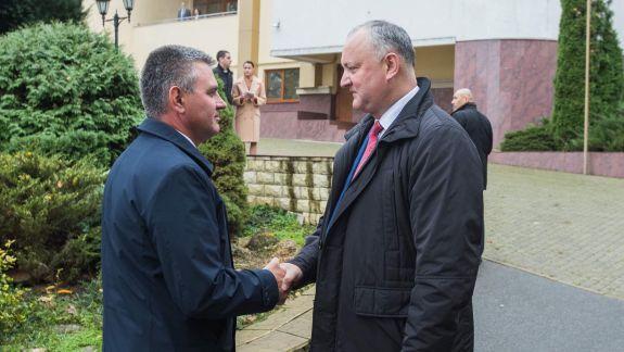 Igor Dodon s-a întâlnit, totuși, cu separatistul Vadim Krasnoselski (VIDEO, FOTO)
