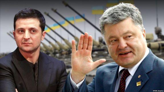 Alegeri prezidențiale în Ucraina: Poroșenko și Zelenski s-au acuzat și insultat reciproc în dezbaterea de pe stadionul Olimpic (VIDEO)