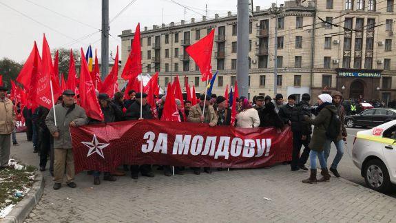 """LIVE, FOTO, UPDATE. PSRM a început """"Marșul și mitingul național"""" la care-și va prezenta programul electoral"""