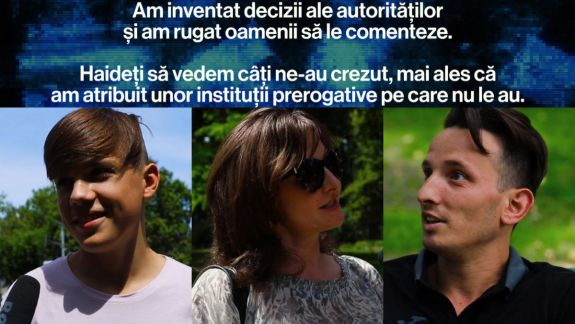 La limita absurdului. Experiment AGORA: Cum reacționează moldovenii la decizii inexistente ale autorităților (VIDEO)