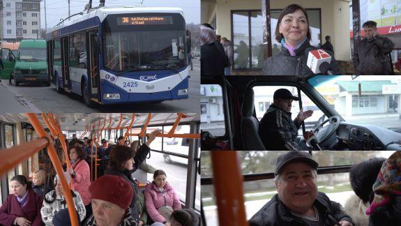 Locuitorii – încântați, șoferii de microbuze – revoltați. Ce spun oamenii de la Ialoveni despre troleibuzele care ajung până în oraș? (VIDEO)