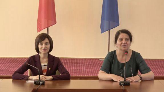 Maia Sandu, după revenirea la Ministerul Educației: Nu știu dacă v-a fost dor, dar nouă ne-a fost