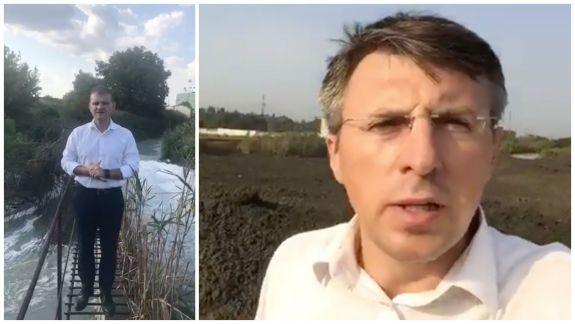 Mirosul urât din Chișinău, prilej de campanie electorală? După Munteanu, și Chirtoacă a mers la stația de epurare