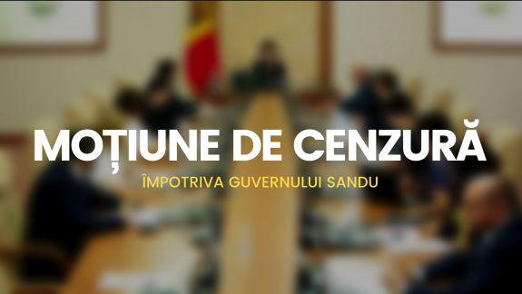 PSRM depune moțiune de cenzură împotriva Guvernului