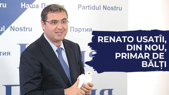 Renato Usatîi, ales primar de Bălți din primul tur