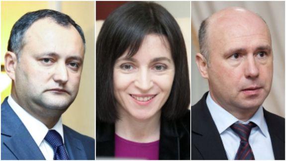 SONDAJ: Igor Dodon, Maia Sandu, Pavel Filip - favoriții cetățenilor. Andrei Năstase, după Zinaida Greceanîi