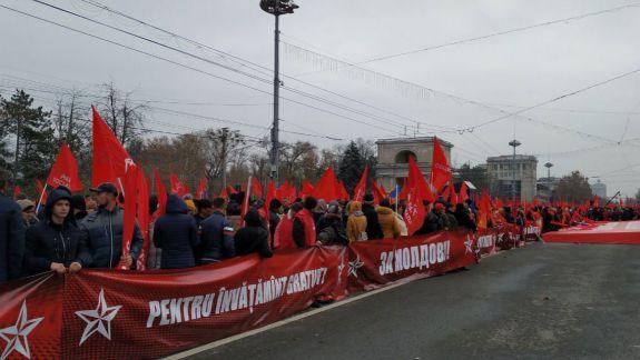 Salarii de 600 de euro și interzicerea unioniștilor. Promisiunile electorale ale PSRM, adoptate prin rezoluție la mitingul din PMAN
