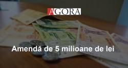 Administratorii unei rețele de supermarketuri, amendați cu 5 milioane de lei
