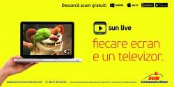 Ai televiziune oriunde și oricând cu aplicația SUN LIVE