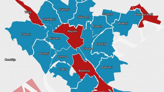 Cum au votat sectoarele și suburbiile capitalei