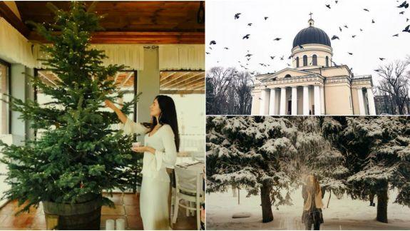 """FOTO. """"Instagram de moldovean""""! Cum a fost văzută de către internauți prima ninsoare din luna decembrie"""