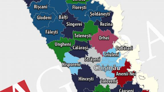 Hartă: Cine a câștigat primăriile din centrele raionale după alegerile locale