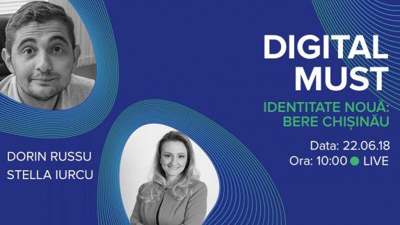 LIVE. DigitalMUST despre noua identitate a Bere Chișinău