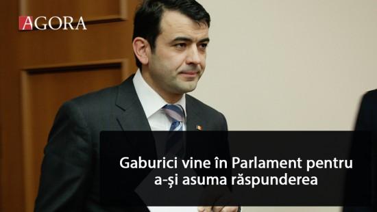 LIVE: Gaburici vine în fața Parlamentul pentru a-și asuma răspunderea pentru Buget și politica fiscală