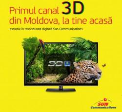 Primul canal 3D în Moldova, lansat doar în rețeaua Sun Communications