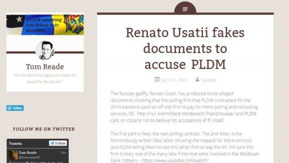 Un blogger american despre unul din documentele lui Usatîi: Sunt false