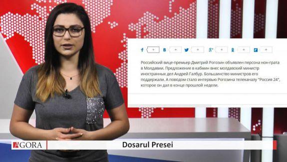"""VIDEO. Cazul Rogozin în """"Dosarul Presei"""" ruse: 5 știri cu același text și """"pacea"""" adusă de militarii ruși în regiunea transnistreană"""
