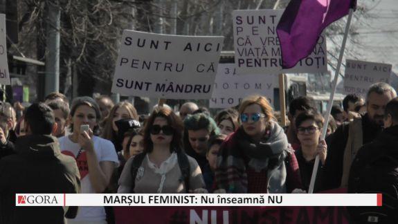 """VIDEO. De ziua internațională a femeii s-a desfășurat marșul feminist """"Nu înseamnă NU"""""""
